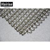 Bande de conveyeur de réseau de treillis métallique d'acier inoxydable de solides solubles