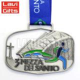 Concevoir bon marché les récompenses blanc de médaille et de trophée de médaillon en métal d'or de sport