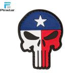 Militaire Flard van pvc van de Schedel van de Vlag van de V.S. van de douane het Rubber