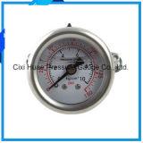 Eingefaßt vom Wasser-Reinigungsapparat-Druckanzeiger-Manometer