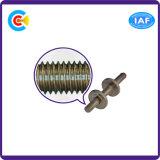 DIN/ANSI/BS/JIS Carbon-Steel/Conexión Stainless-Steel tornillo moleteado de paquete doble tuerca del tornillo de varilla