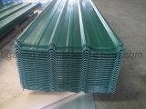 Tuile de toiture trapézoïdale en métal de la construction simple PPGI/PPGL de prix usine