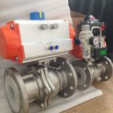 Acero inoxidable Wcb/actuador neumático Válvula de bola