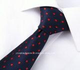 熱い販売100%の絹の点のネクタイ