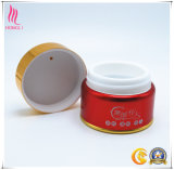 Contenitore cosmetico di alluminio rosso di cura di pelle con protezione d'argento/dorata