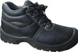 Ботинки безопасности крышки пальца ноги Split кожи коровы Анти--Smashing стальные