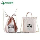 卸し売りキャンデーカラーカスタム印刷簡単な様式のキャンバスのポケット/ドローストリング袋