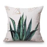 Les plantes tropicales Cactus draps en coton Coussin de jeter le couvercle (35C0214)