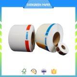 Escritura de la etiqueta termal directa colorida de la alta calidad con talla modificada para requisitos particulares