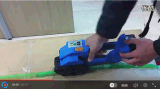 Batería Herramienta de embalaje semiautomático máquina flejadora para correas de PP/PET