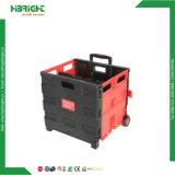Faltbarer Plastiksatz-und RollenEinkaufswagen mit Loch