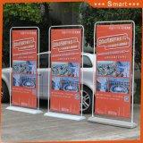 Im Freienförderung-Eisen-Bildschirmanzeige-Zahnstange 80*180cm, Tür-Form-Fahnen-Standplatz