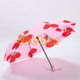 最もよく安い花の折りたたみ自動Foldable傘
