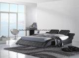 Современные регулируемые кровати с одной спальней из натуральной кожи с деревянным настилом