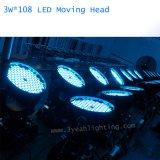 DMX 108PCS 3W LED 세척 급상승 이동하는 맨 위 빛