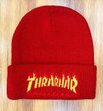 Горячая продажа трикотажныеRed Hat вышивка Red Hat теплые винты с головкой под шапки для мужчин