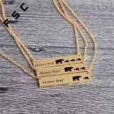 卸し売りカスタムBear Goldママの棒銀のネックレスの合金のネックレス
