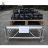 4 다리는 18 합판 단계 Portable 유형을%s 가진 알루미늄 단계 갑판을 조립한다