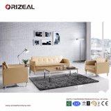 Strato di cuoio contemporaneo di Orizeal con il sofà di legno del blocco per grafici da vendere (OZ-OSF017)