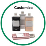 Oferta promocional OTG USB3.0 Unidades de Memória Flash para iPhone Android Market