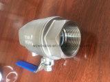 1-дюймовый CF8m DIN 2 ПК с помощью шарового клапана рукоятку замка