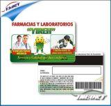 Tarjeta plástica compensada modificada para requisitos particulares del PVC del código de barras de la impresión de la tarjeta de 4 colores