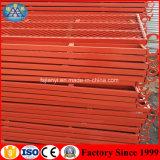 Niedriger Preis-angestrichenes Verschalung-Stahlstrichleiter-Rahmen-Baugerüst justierbar