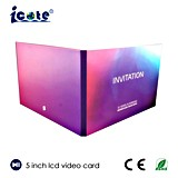 Kundenspezifische 5 Förderung-videogruß-Karte des Zoll-TFT LCD
