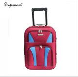 Rote Farben-Nylonkoffer auf Rad-Arbeitsweg-Laufkatze-Gepäck