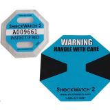 10g Shockwatch 2 чувствительных товаров электрическим током в руководстве по использованию наклеек