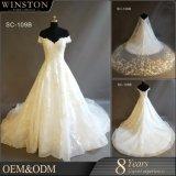 Moslemische Hochzeits-Kleid-HülseAppliques, die Brautkleider bördeln
