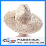 고품질 매트 잔디 넓은 테두리 중절모 카우보이 밀짚 여름 모자