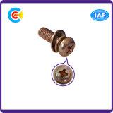 L'acciaio al carbonio di DIN/ANSI/BS/JIS/combinazione trasversale di acciaio inossidabile della testa del piatto avvita le viti Multi-Colored di combinazione