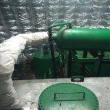 Aceite de motor negro inútil de coche o petróleo usado de la nave que recicla la planta de la refinería de petróleo