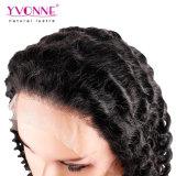 Yvonne onda profunda del cabello Cabello Humano encaje frontal peluca