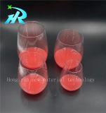 Produtos vidreiros por atacado do plástico do vidro de vinho 4oz