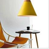 Lámpara pendiente de aluminio de madera ligera pendiente moderna