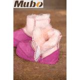 겨울 동안 순수한 호주 메리노 양모 양가죽 아기 신발