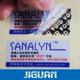 Настраиваемый логотип печать несъемных напечатанных наклеек безопасности