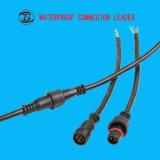 Conetor de cabo fêmea masculino do Pin do plugue elétrico 3 do diodo emissor de luz