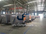 3m3/Min 5bar 이동할 수 있는 광업 공기 탱크를 가진 디젤 엔진 공기 압축기