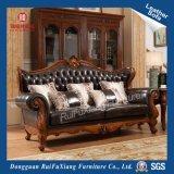 Ruifuxiang античном стиле Черный кожаный диван в гостиной (N279)