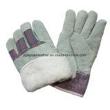 Boa полного накладки из натуральной кожи вставить манжеты зимние теплые рабочие перчатки для сборной
