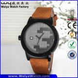 Form-beiläufige Quarz-Dame-Armbanduhr (Wy-115C)