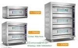 Handelstellersegment-Gas-Backen-Ofen des Edelstahl-drei der Plattform-sechs