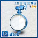 Triplicar-se da solda de extremidade da frição de Didtek válvula de borboleta Offset baixo