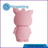 선전용 주문을 받아서 만들어진 돼지 PVC USB 섬광 드라이브 디스크