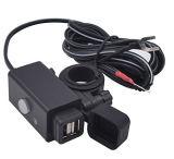 Adaptateur de chargeur de téléphone de la moto USB avec l'interrupteur d'alimentation