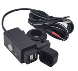 Motorrad USB-Telefon-Aufladeeinheits-Adapter mit Netzschalter