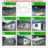 労働者またはプレハブの家のためのDomitory軽い鉄骨構造フレームのプレハブの家